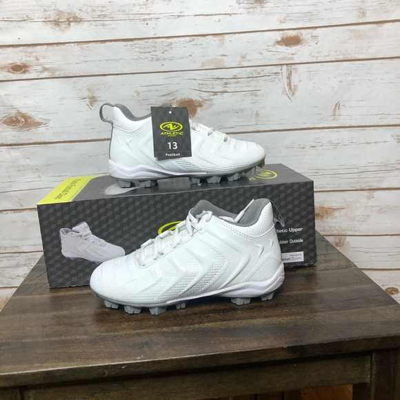 White Youth Size 3 US Details about  /NEW Athletic Works Youth Football Cleat Shoes